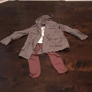 EEUC! Grey safari jacket!!!